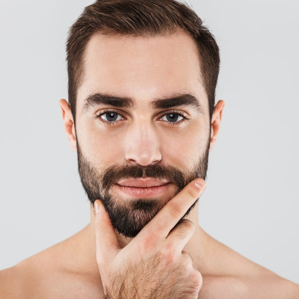 handsome man in his 30s considering anti-ageing treatments