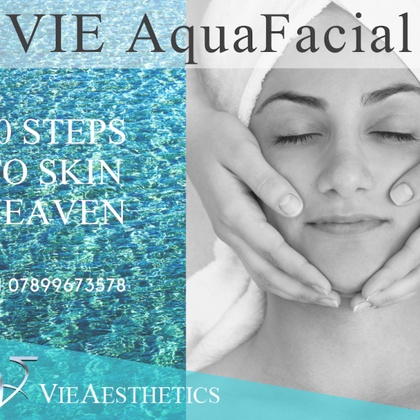 The VIE AquaFacial is described as the 10 steps to skin heaven