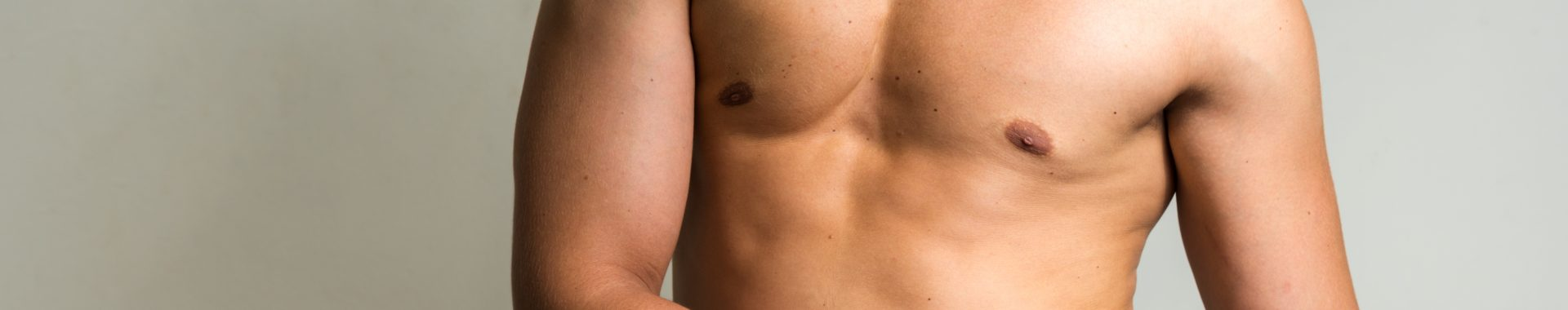 banner for mens body treatments