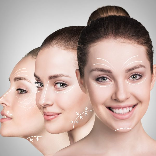 Woman showing the benefits of facial rejuvenation and anti-ageing treatments
