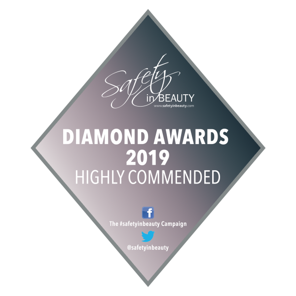 Highly Commended award at the Safety in Beauty Diamond Awards 2019