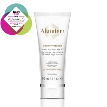 Alumier MD Sheer Hydration SPF 40 untinted sunscreen product photo