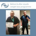 Man shows results from the national medical weight loss programme