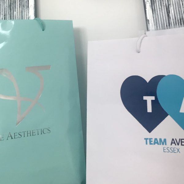 Team Avery pampering bags at Vie Aesthetics