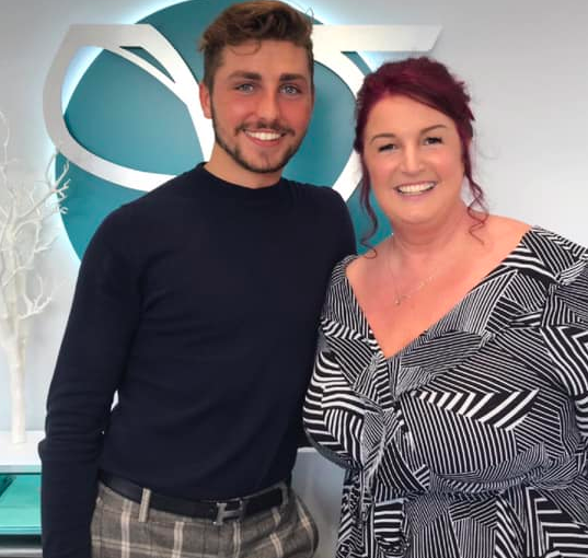 Dawn Avery with Zak Liam after her pampering at Vie Aesthetics