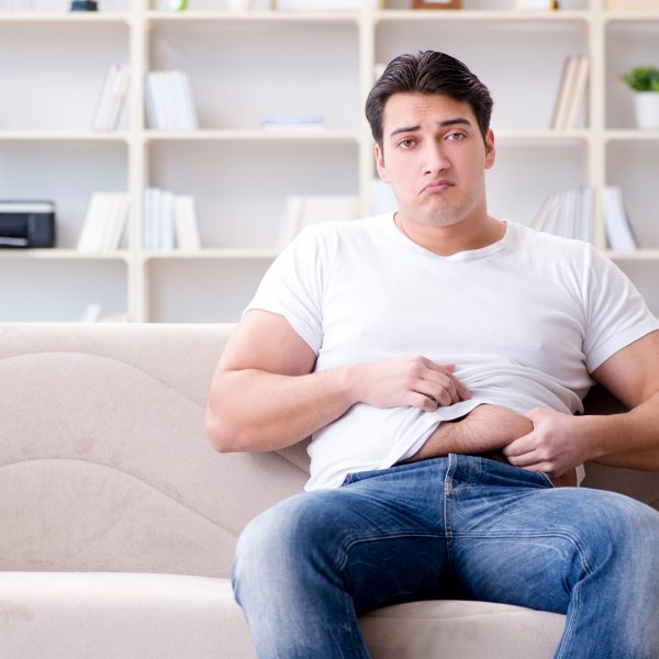 Man worried about lack of exercise during lockdown