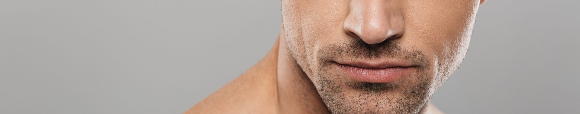 banner for male facial treatments