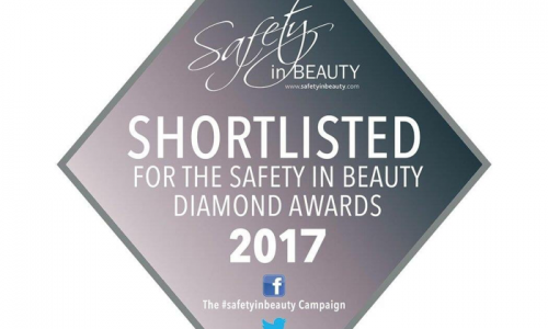 We have been shortlisted for the Safety in Beauty Diamond Awards