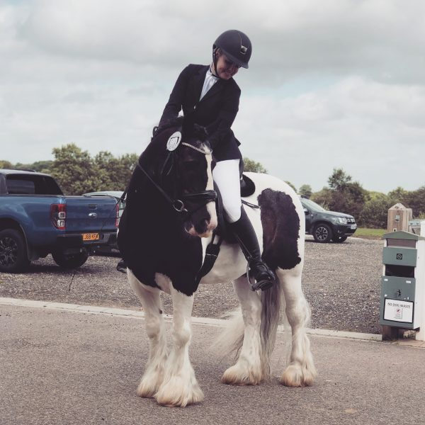 woman horserider after undergoing ems muscle strengthening procedure