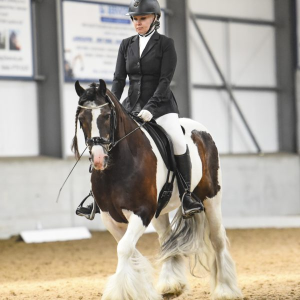woman horserider at a dressage event