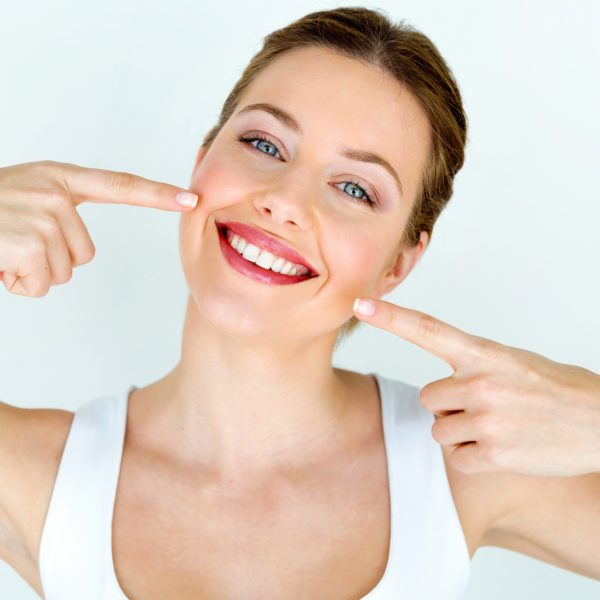 woman with beautiful smiling lips