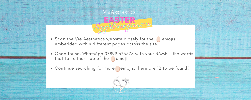 Virtual Easter egg Hunt at Vie Aesthetics how to get involved