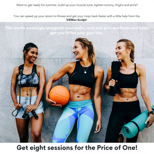 three young females after work out session laughing VieMax Sculpt at Vie Aesthetics
