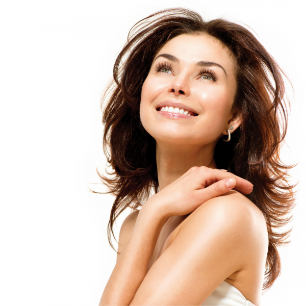 Lady with beautiful skin at Vie Aesthetics