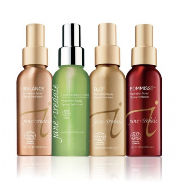 Jane iredale hydrating mist collection at vie aesthetics