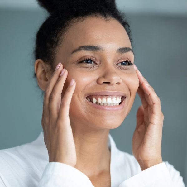woman happy with her filler treatment