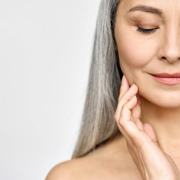 Middle-aged woman after anti-ageing treatments such as Juvederm® Fillers