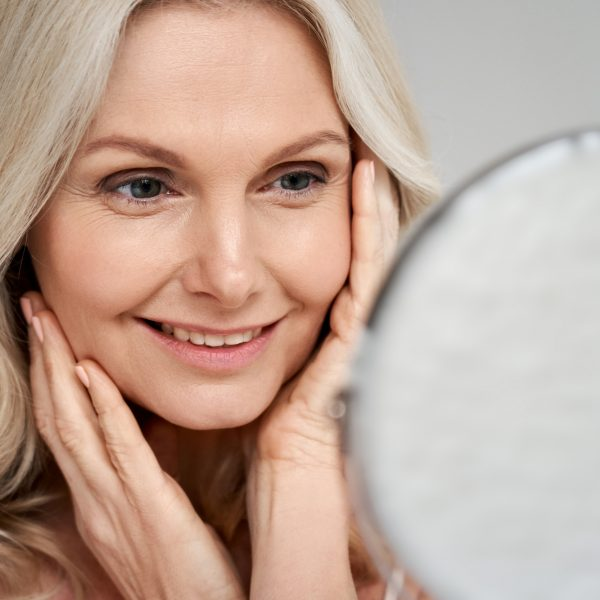 middle-aged woman after maili filler treatment for her face